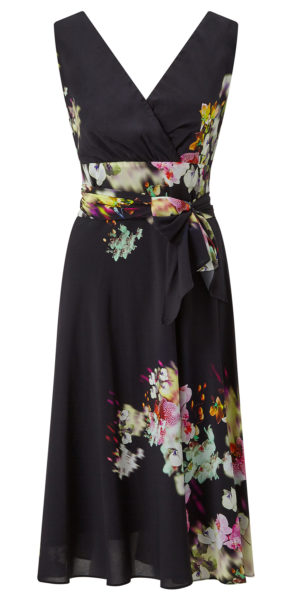 Helena Printed Fit and Flare Dress